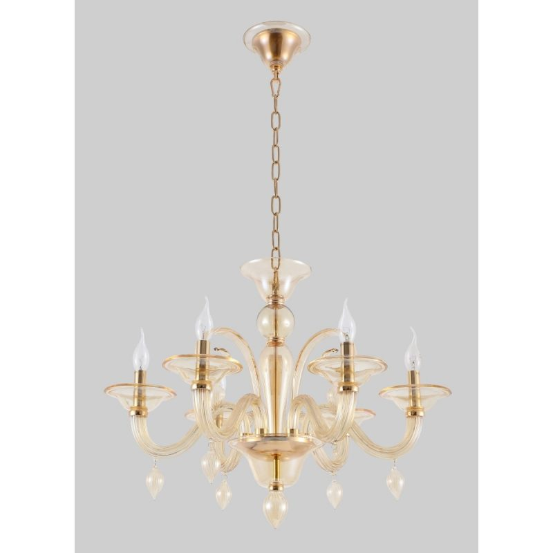 Люстра Crystal Lux CAETANO SP-PL6 AMBER