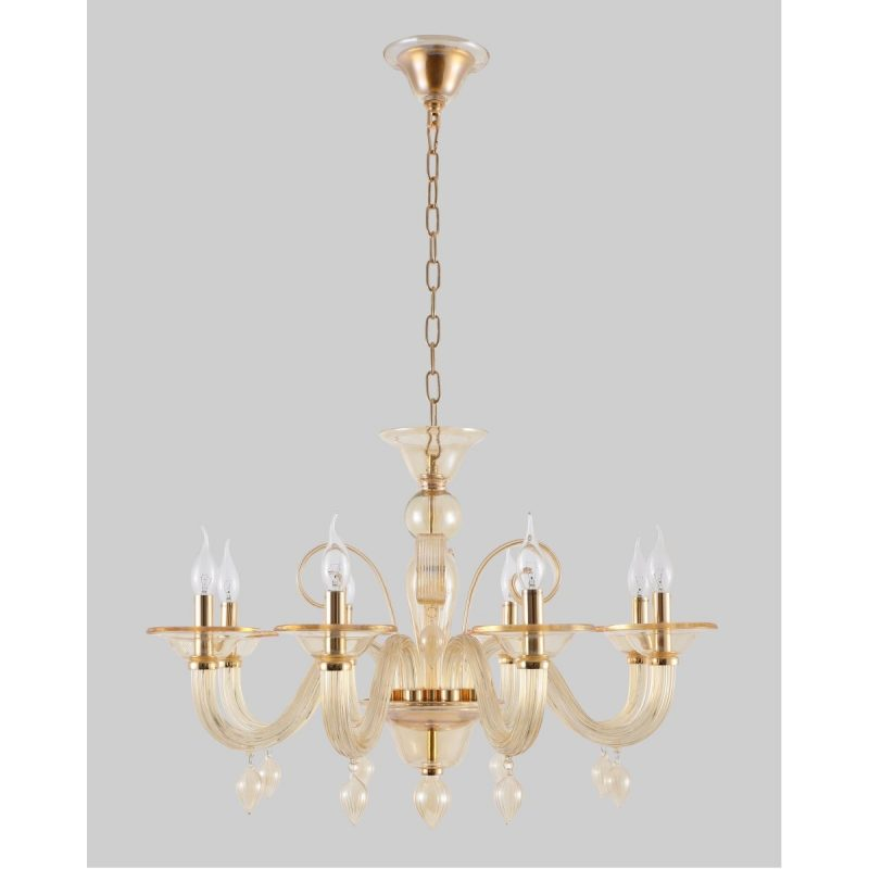 Люстра Crystal Lux CAETANO SP-PL8 AMBER