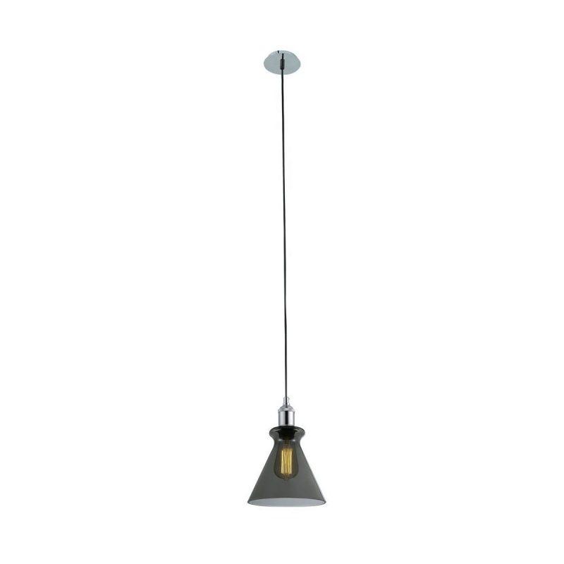 Светильник подвесной Crystal Lux CAMPANELLA SP1 SMOKE