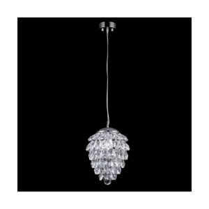 Светильник подвесной Crystal Lux CHARME SP1+1 LED CHROME/TRANSPARENT