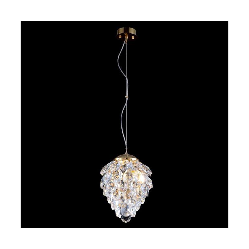 Светильник подвесной Crystal Lux CHARME SP1+1 LED GOLD/TRANSPARENT