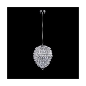 Светильник подвесной Crystal Lux CHARME SP2+2 LED CHROME/TRANSPARENT