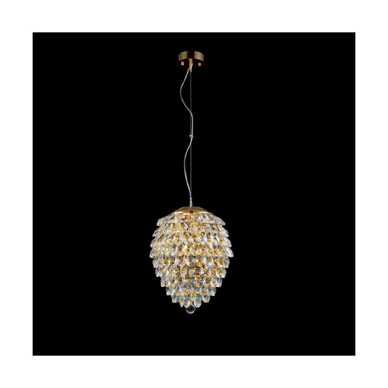 Светильник подвесной Crystal Lux CHARME SP2+2 LED GOLD/TRANSPARENT