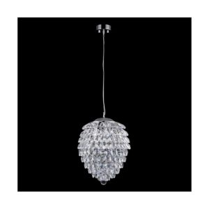 Светильник подвесной Crystal Lux CHARME SP3+3 LED CHROME/TRANSPARENT