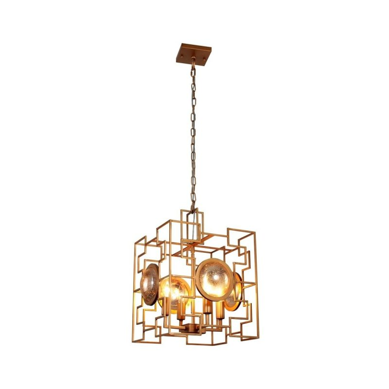 Светильник подвесной Crystal Lux CUENTO SP4 GOLD