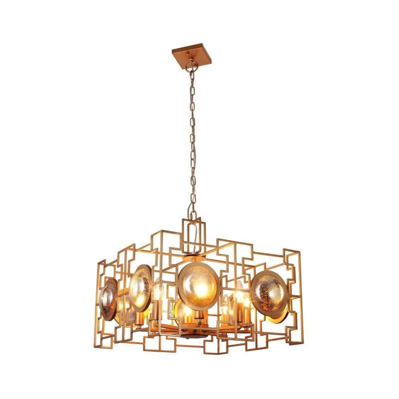 Светильник подвесной Crystal Lux CUENTO SP8 GOLD