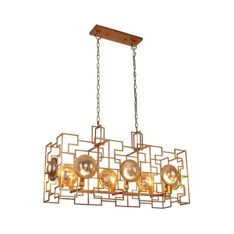Светильник подвесной Crystal Lux CUENTO SP8 L900 GOLD