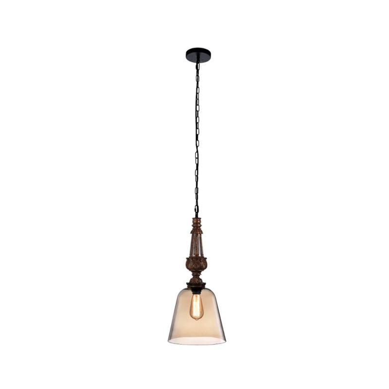 Светильник подвесной Crystal Lux DECO SP1 A AMBER