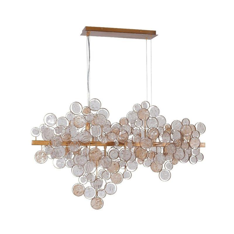 Светильник подвесной Crystal Lux DESEO SP12 L1000 GOLD