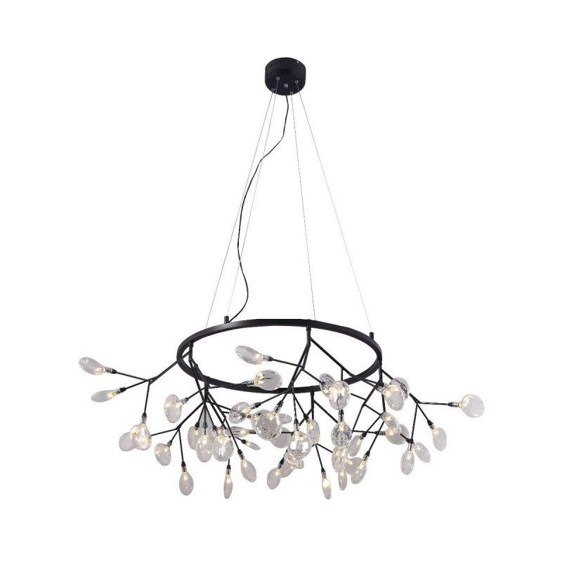 Светильник подвесной Crystal Lux EVITA SP45 D BLACK/TRANSPARENT