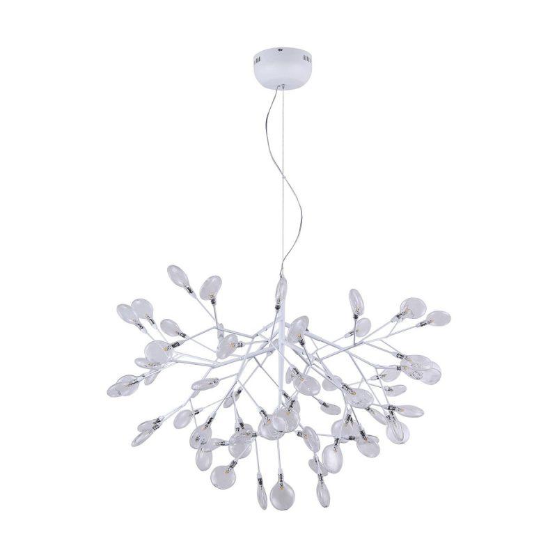 Светильник подвесной Crystal Lux EVITA SP63 WHITE/TRANSPARENT