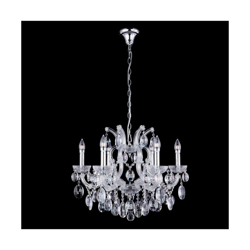 Люстра Crystal Lux HOLLYWOOD SP6 CHROME