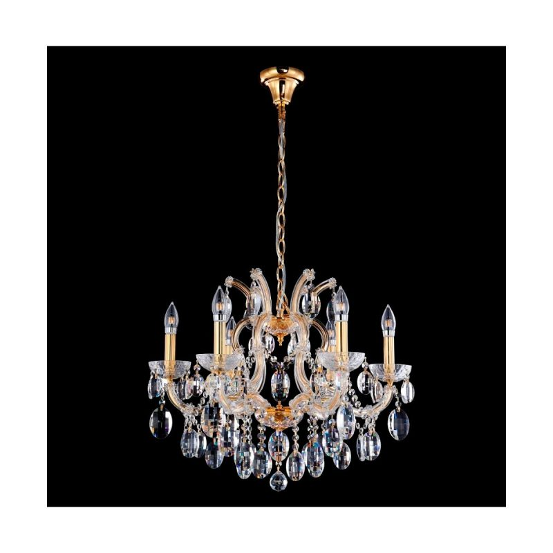 Люстра Crystal Lux HOLLYWOOD SP6 GOLD