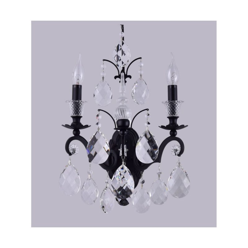 Бра Crystal Lux MAGNIFICO AP2 BLACK/TRANSPARENT