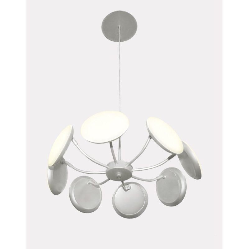 Светильник подвесной Crystal Lux MAXIME SP8 D500 SILVER