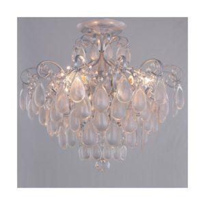 Светильник потолочный Crystal Lux SEVILIA PL4 SILVER