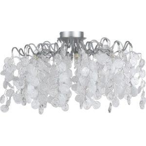 Светильник потолочный Crystal Lux TENERIFE PL8 SILVER