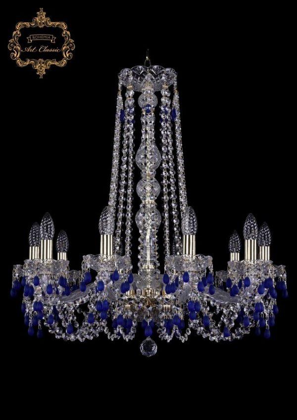 Люстра голубой хрусталь 11.24.10.220.h-70.Gd.V3001
