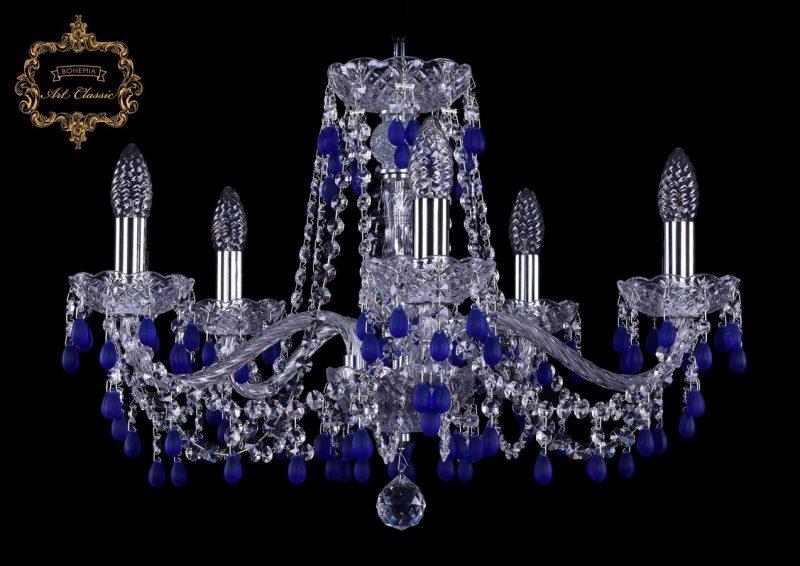 Люстра голубой хрусталь 11.24.5.200.Cr.V3001