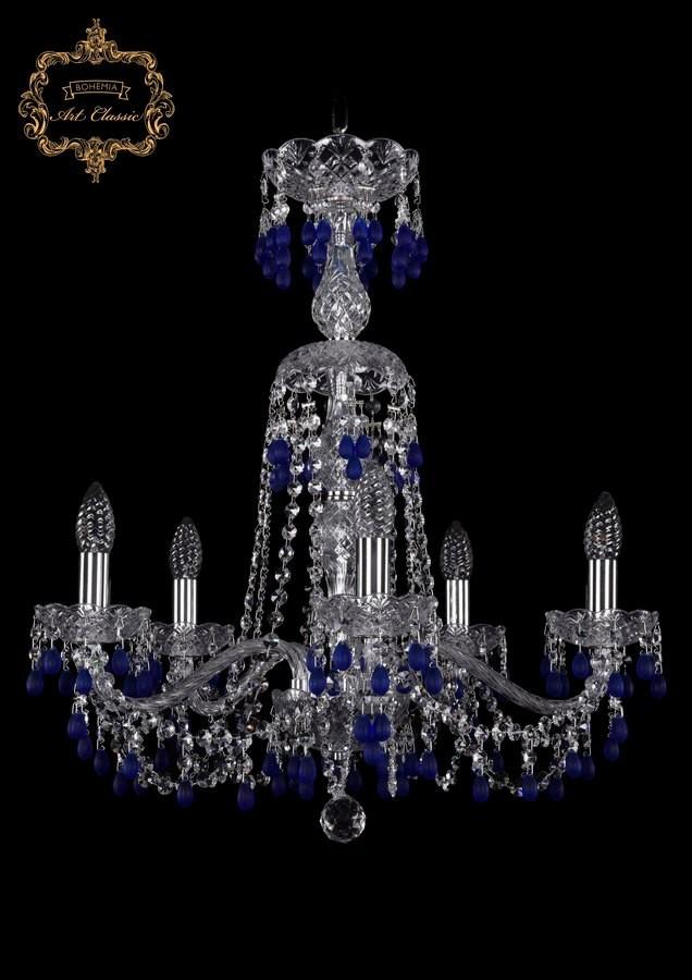 Люстра голубой хрусталь 11.24.5.200.XL-64.Cr.V3001