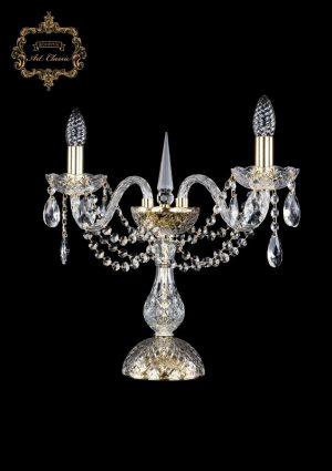Настольная лампа бесцветный хрусталь 12.11.2.141-37.Gd.Sp