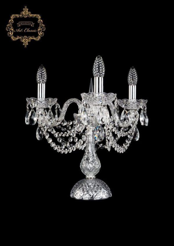 Настольная лампа бесцветный хрусталь 12.11.3.141-37.Gd.Sp