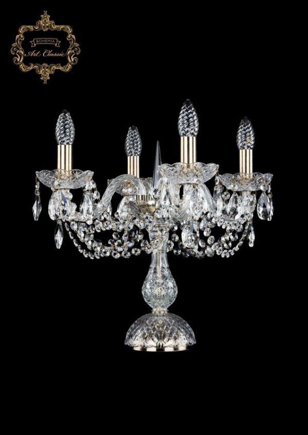 Настольная лампа бесцветный хрусталь 12.11.4.141-37.Br.Sp