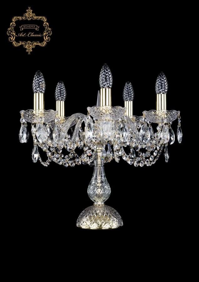 Настольная лампа бесцветный хрусталь 12.11.5.141-37.Gd.Sp