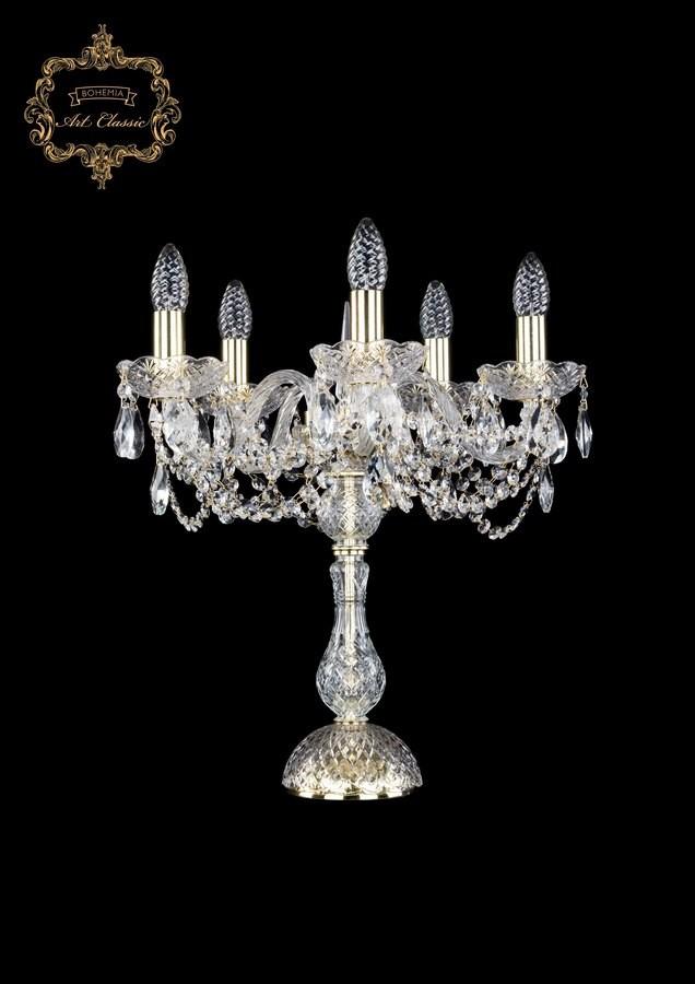 Настольная лампа бесцветный хрусталь 12.11.5.141-45.Gd.Sp
