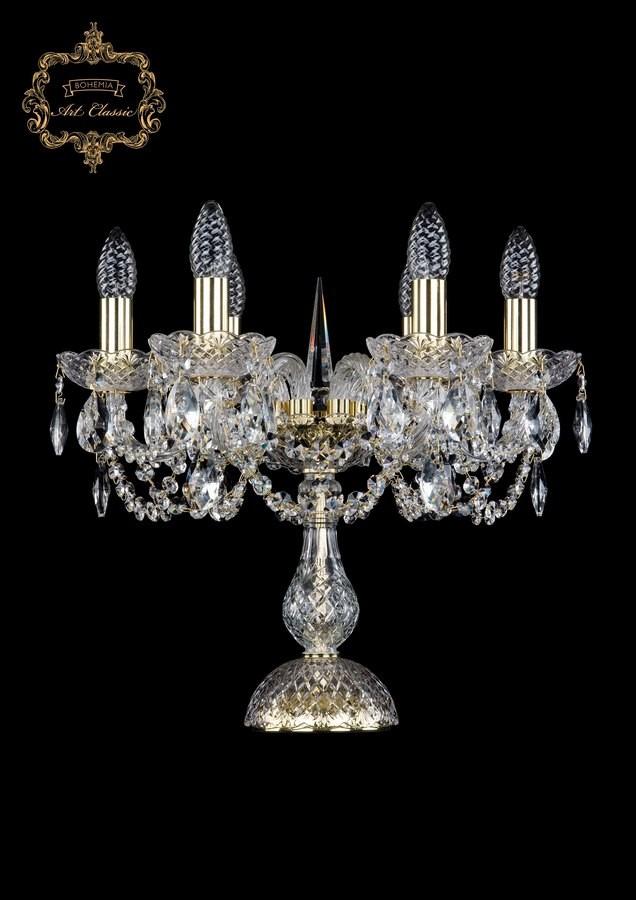 Настольная лампа бесцветный хрусталь 12.11.6.141-37.Gd.Sp