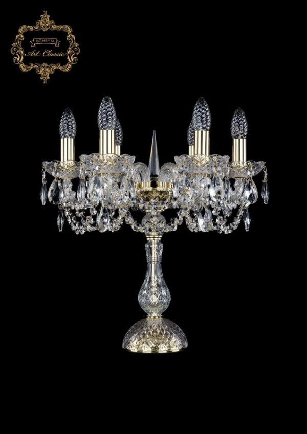 Настольная лампа бесцветный хрусталь 12.11.6.141-45.Gd.Sp