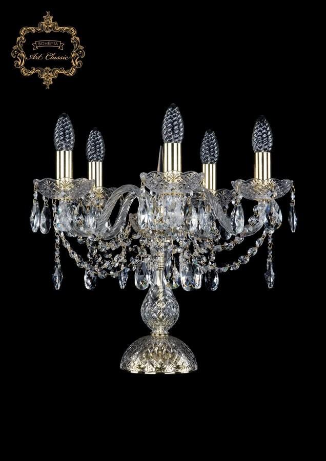 Настольная лампа бесцветный хрусталь 12.12.5.141-37.Gd.Sp