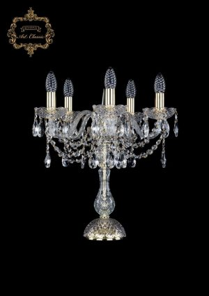 Настольная лампа бесцветный хрусталь 12.12.5.141-45.Gd.Sp