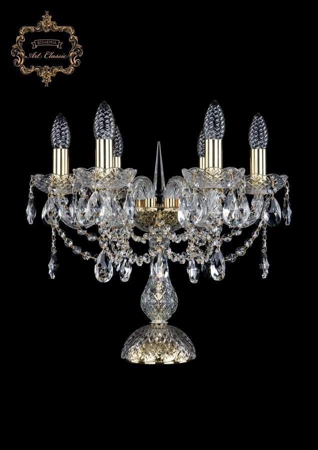 Настольная лампа бесцветный хрусталь 12.12.6.141-37.Gd.Sp
