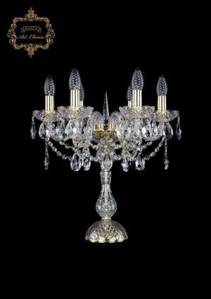 Настольная лампа бесцветный хрусталь 12.12.6.141-45.Gd.Sp