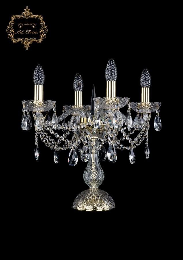 Настольная лампа бесцветный хрусталь 12.21.4.141-37.Gd.Sp