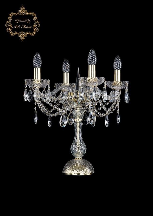 Настольная лампа бесцветный хрусталь 12.21.4.141-45.Gd.Sp