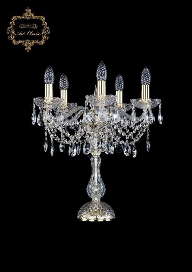 Настольная лампа бесцветный хрусталь 12.21.5.141-45.Gd.Sp