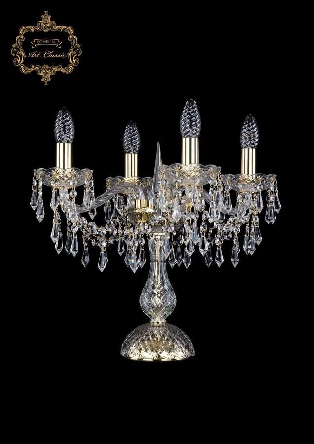 Настольная лампа бесцветный хрусталь 12.23.4.141-37.Gd.Dr
