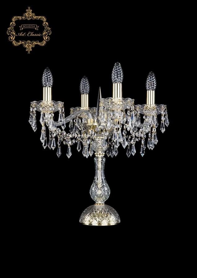 Настольная лампа бесцветный хрусталь 12.23.4.141-45.Gd.Dr