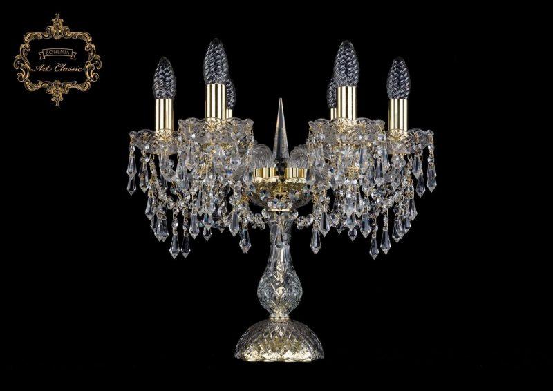 Настольная лампа бесцветный хрусталь 12.23.6.141-37.Gd.Dr