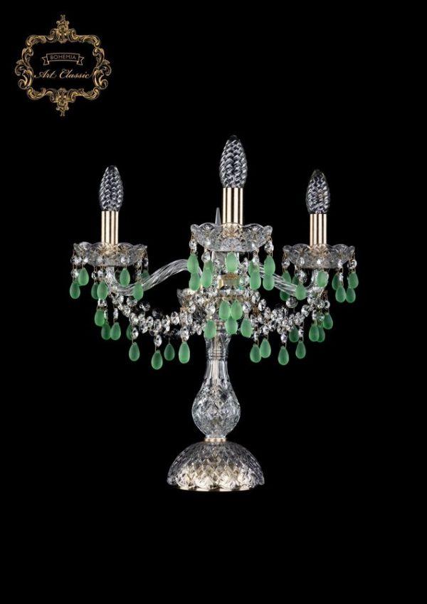 Настольная лампа зеленый хрусталь 12.24.3.141-37.Br.V5001