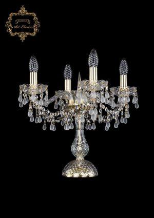 Настольная лампа белый хрусталь 12.24.4.141-37.Gd.V0300