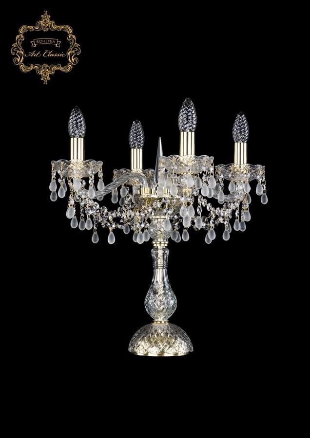 Настольная лампа белый хрусталь 12.24.4.141-45.Gd.V0300