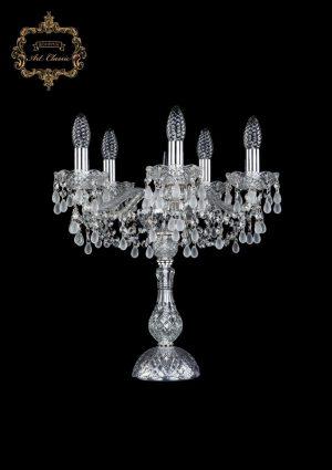 Настольная лампа белый хрусталь 12.24.5.141-45.Cr.V0300