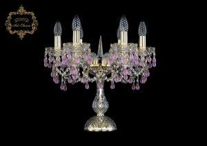 Настольная лампа розовый хрусталь 12.24.6.141-37.Gd.V7010