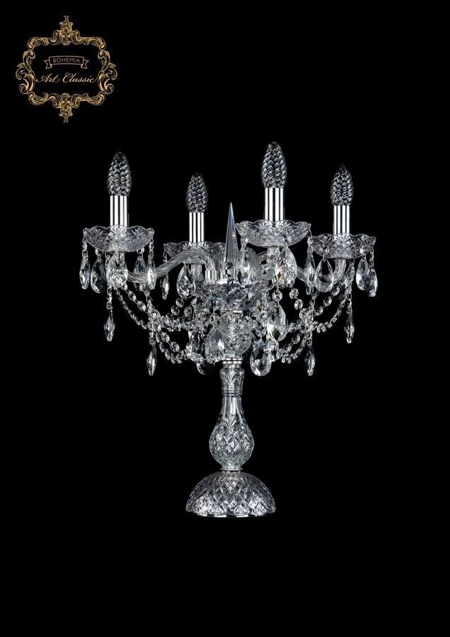 Настольная лампа бесцветный хрусталь 12.25.4.141-45.Cr.Sp