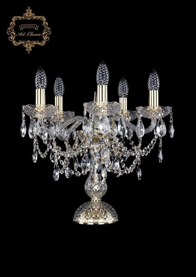 Настольная лампа бесцветный хрусталь 12.25.5.141-37.Gd.Sp
