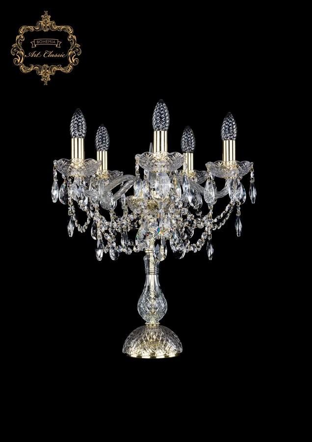 Настольная лампа бесцветный хрусталь 12.25.5.141-45.Gd.Sp