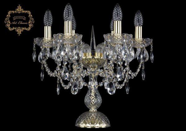 Настольная лампа бесцветный хрусталь 12.25.6.141-37.Gd.Sp